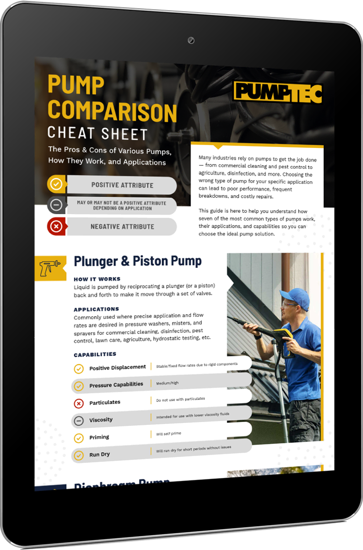 Pump Comparison Cheat Sheet Thumbnail