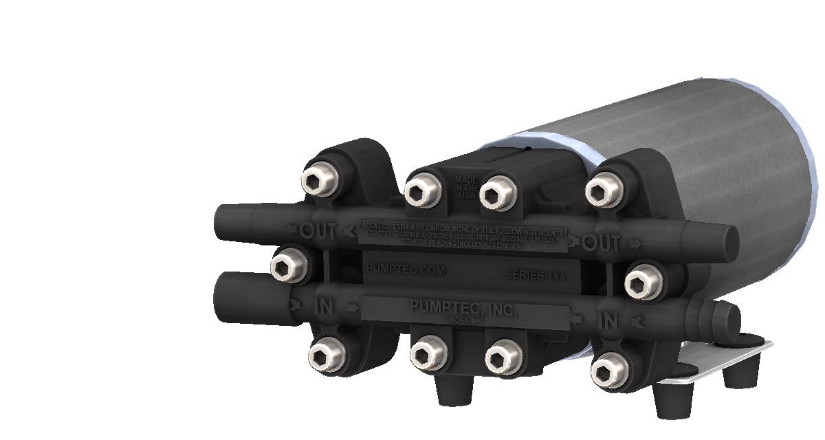 114T-12VDC Black Render Right